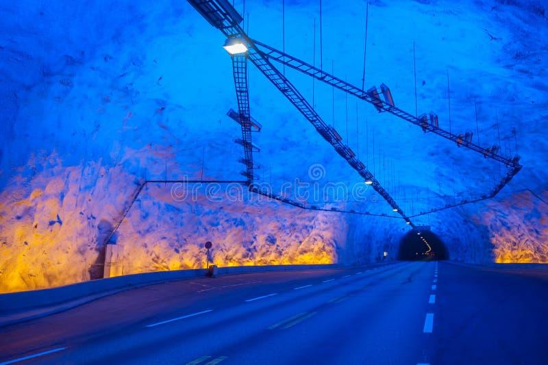 Tunnel de Laerdal, Norvège, le plus long au monde photos libres de droits