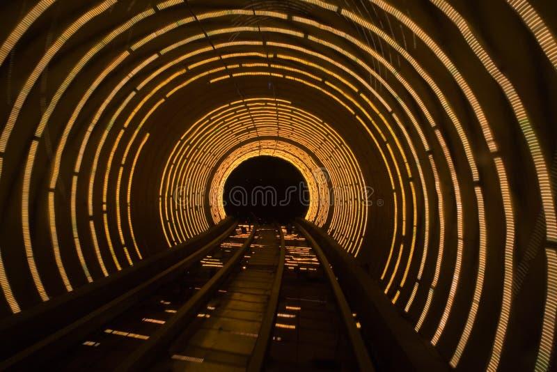 Tunnel de laser image stock
