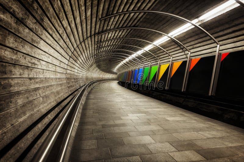 Tunnel de métro de la Norvège photographie stock