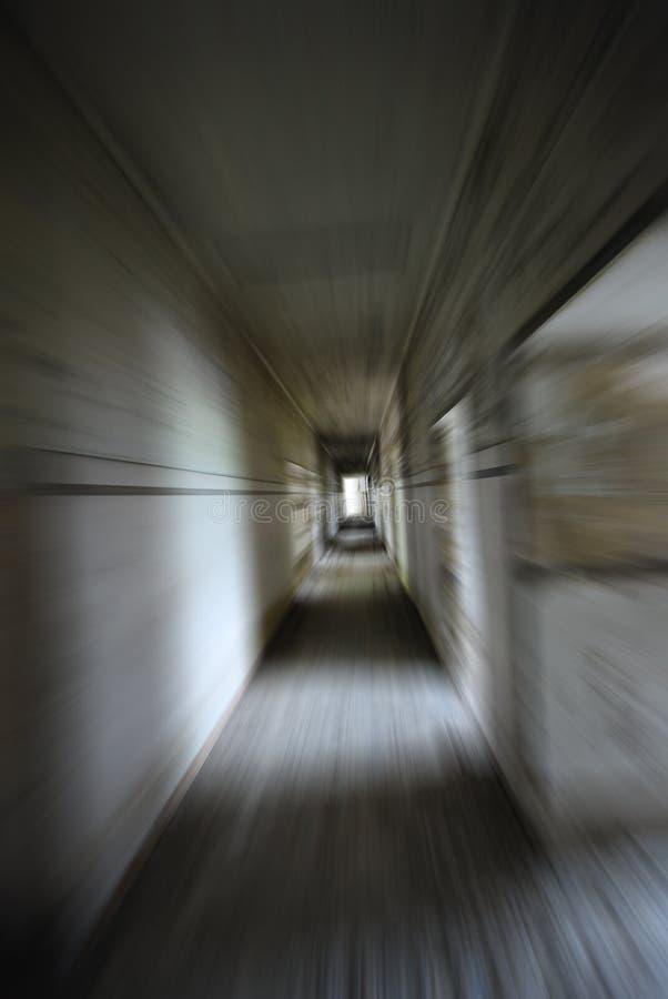 Tunnel de mouvement de zoom de danger photos libres de droits