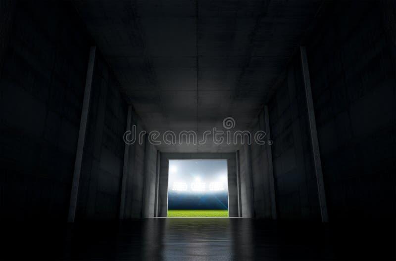 Tunnel de stade de sports photos libres de droits