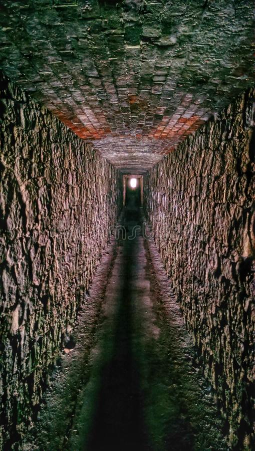 Tunnel dell'ospedale fotografia stock