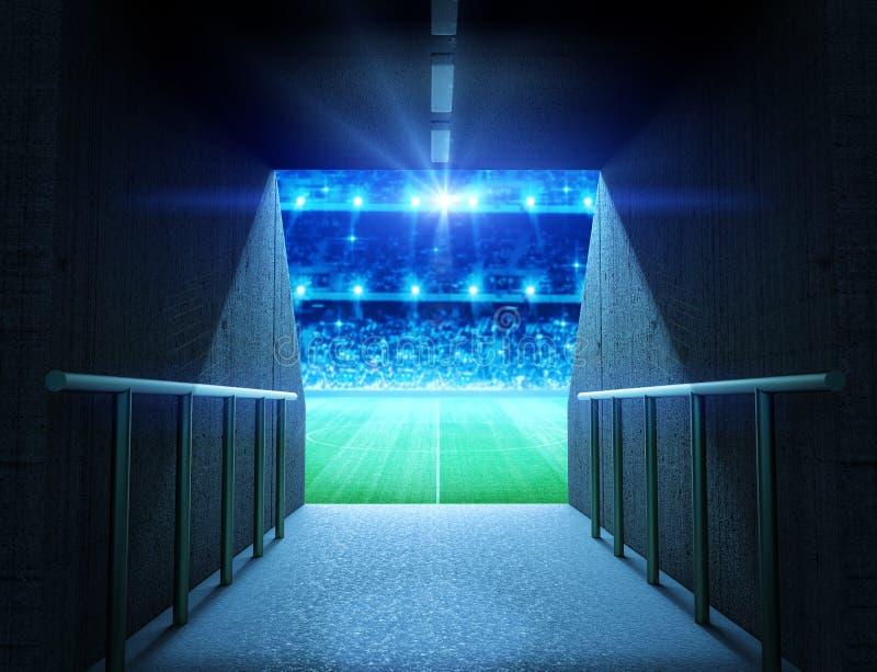Tunnel dello stadio immagini stock libere da diritti