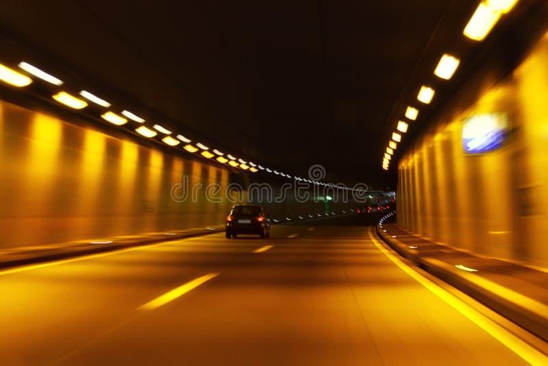 Tunnel in der Bewegung stockfoto