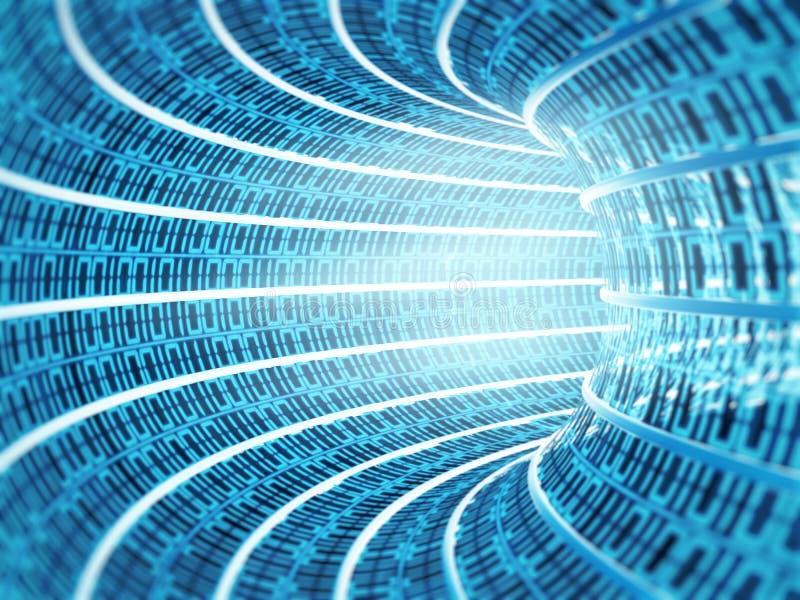 Tunnel des binären Codes stockbilder