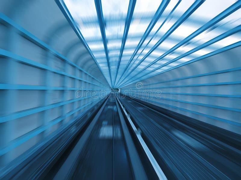 Download Tunnel des Gleiss stockfoto. Bild von perspektive, pendler - 12200174