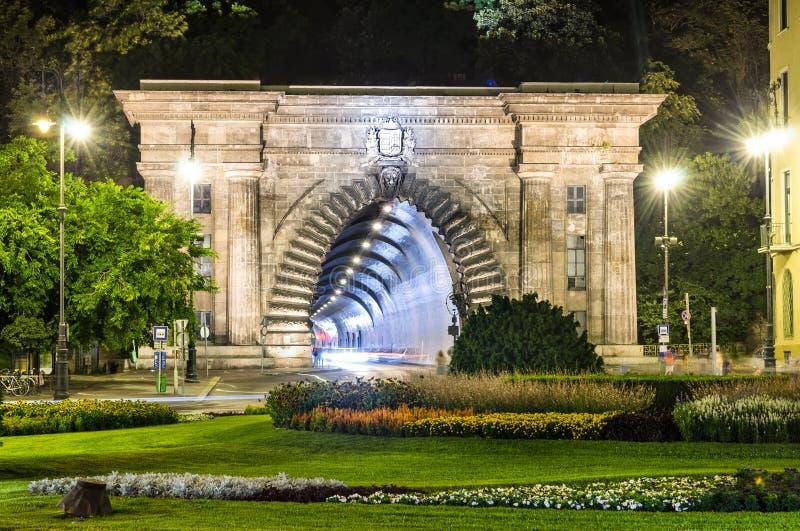 Tunnel di Adam Clark a Budapest, Ungheria fotografie stock