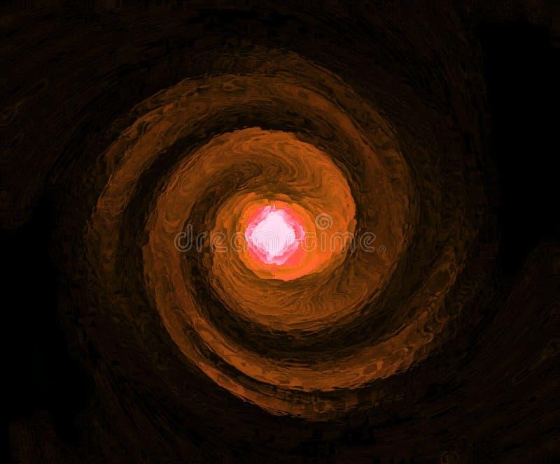 Tunnel di legno cesellato impressionistico della carta da parati o del fondo leggera illustrazione di stock