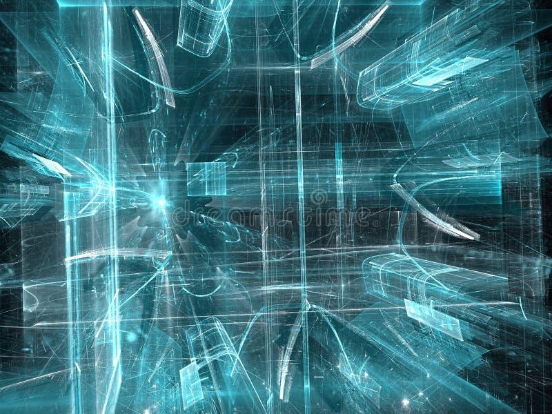 Tunnel di vetro - immagine digitalmente generata dell'estratto illustrazione vettoriale