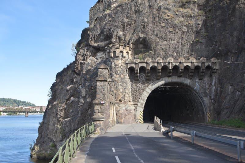 Tunnel di Visegrad praga Repubblica ceca immagini stock libere da diritti