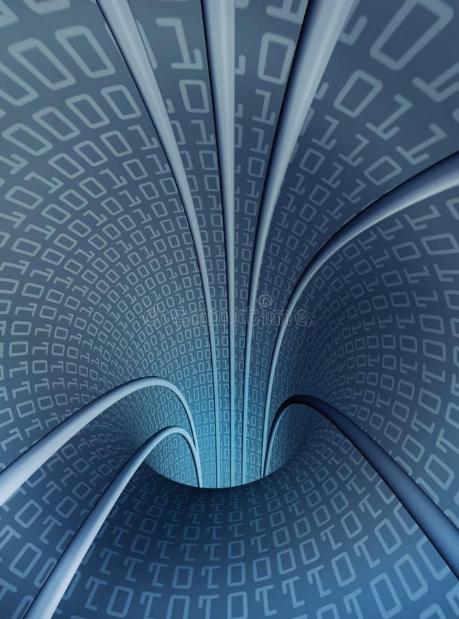 Tunnel digital vertical creux illustration libre de droits