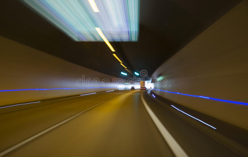 Tunnel driving royalty free stock images