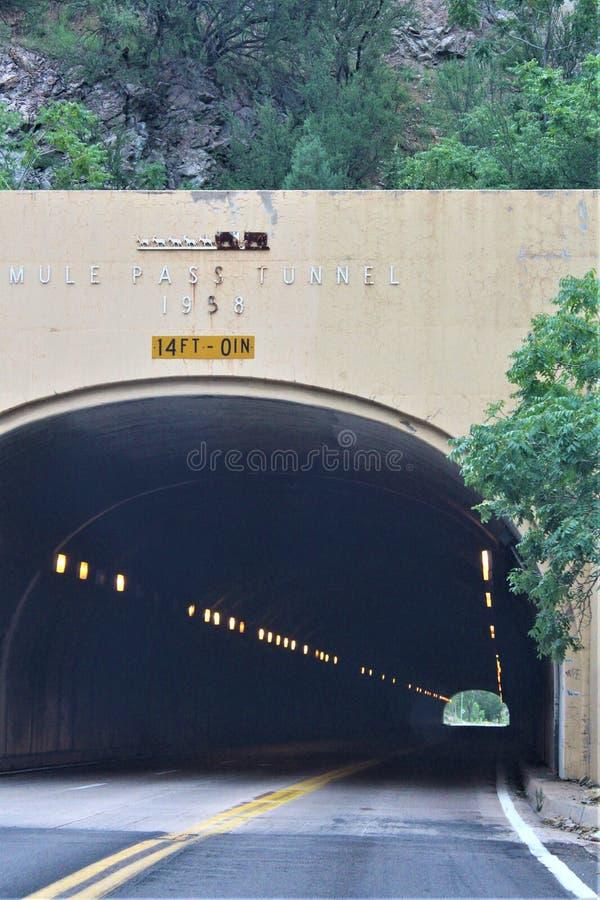 Tunnel du Mule Pass, Bisbee, Arizona, États-Unis photo libre de droits