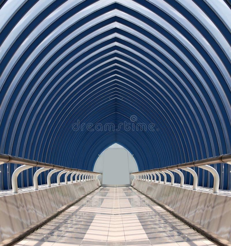 Tunnel en verre photos stock