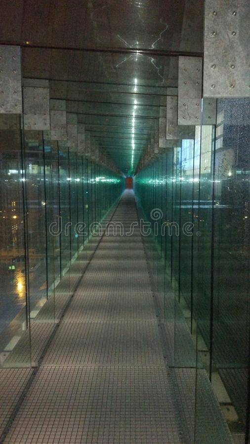 Tunnel en verre photographie stock