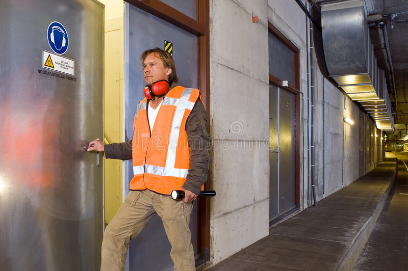 Download Tunnel Engineer stock image. Image of male, steel, public - 7059351