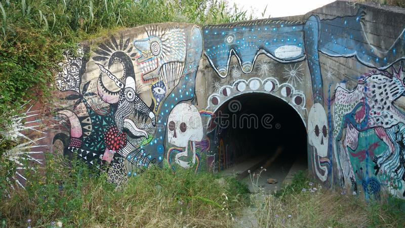 Tunnel entrance royalty free stock image