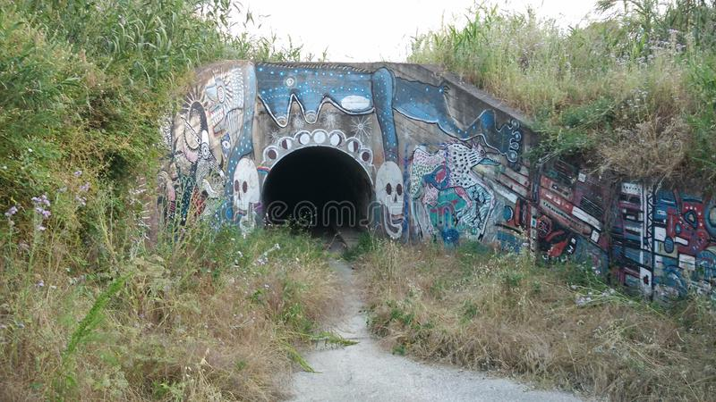 Tunnel entrance royalty free stock photography