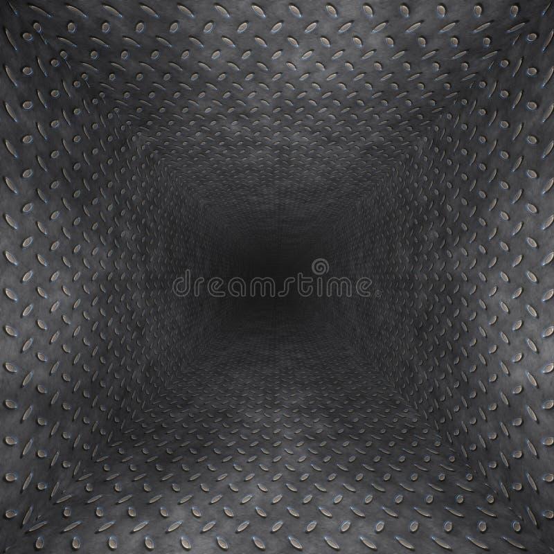 tunnel för diamantmetallplatta stock illustrationer