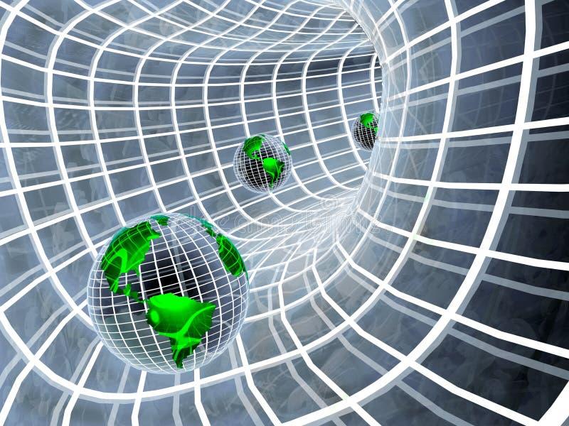 tunnel för jordklot 3d vektor illustrationer