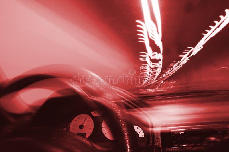 tunnel för körningslampor arkivfoto