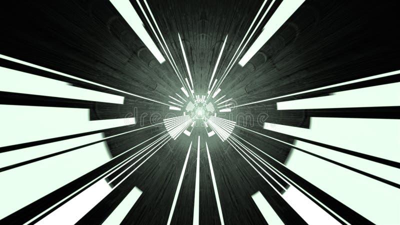 Tunnel för strömkretsbräde, tolkning 3d royaltyfri fotografi