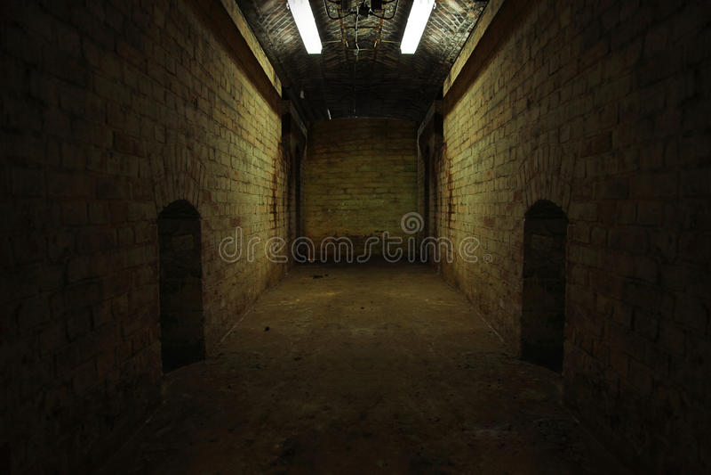 Tunnel foncé photo stock