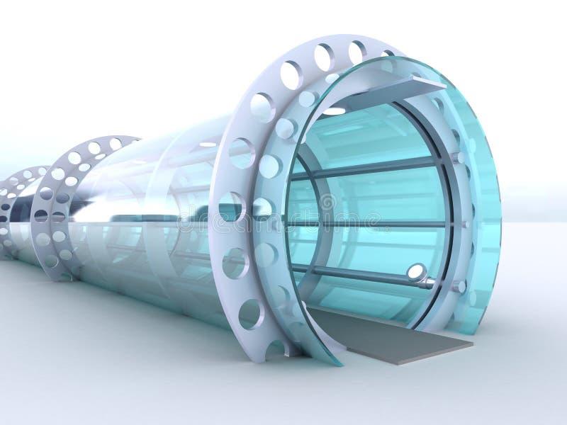 Tunnel futuriste illustration libre de droits