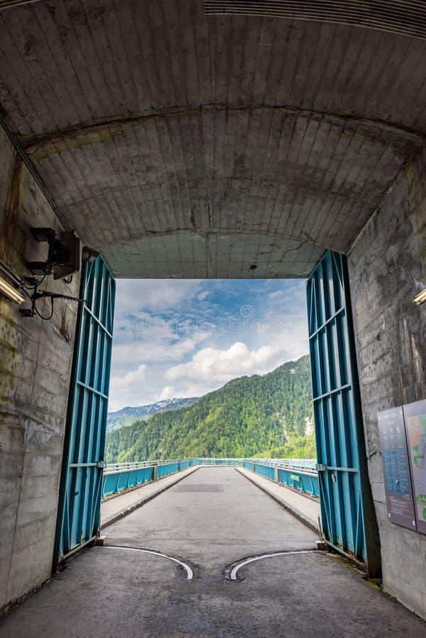 Kurobe dam tunnel royalty free stock photo