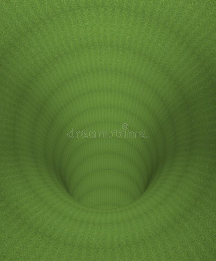 Tunnel hypnotique vert illustration stock