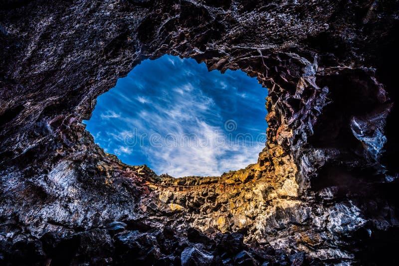 Tunnel indien Lava Tubes Cave photo libre de droits