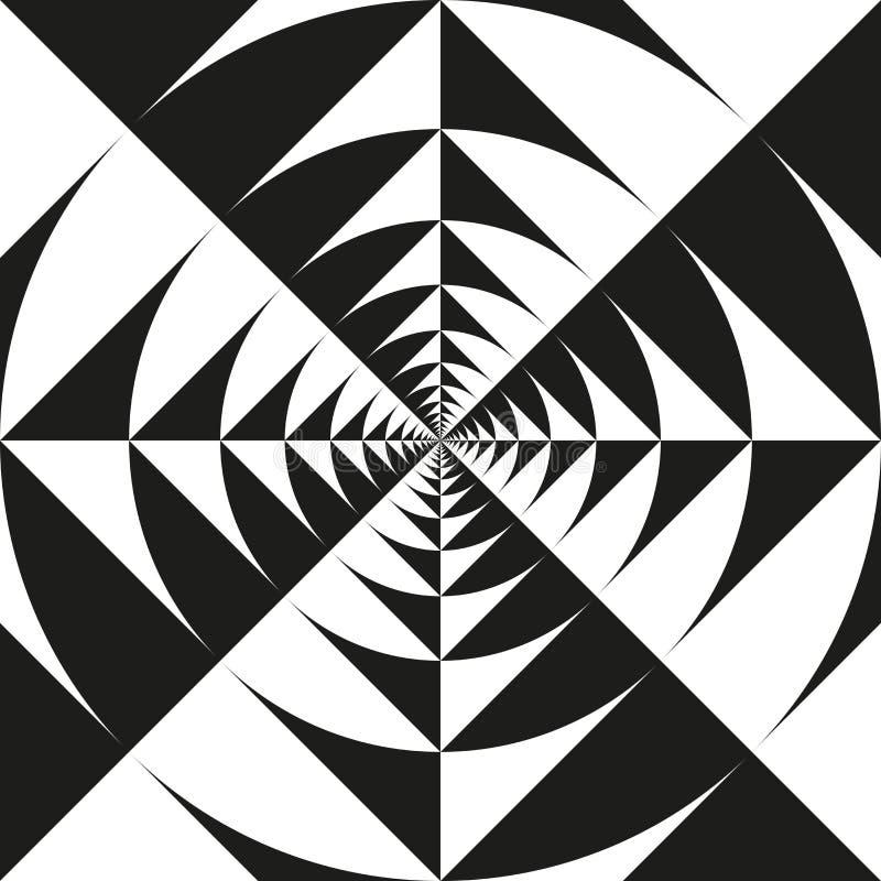 Tunnel infini de vortex de kaléidoscope d'art op illustration de vecteur