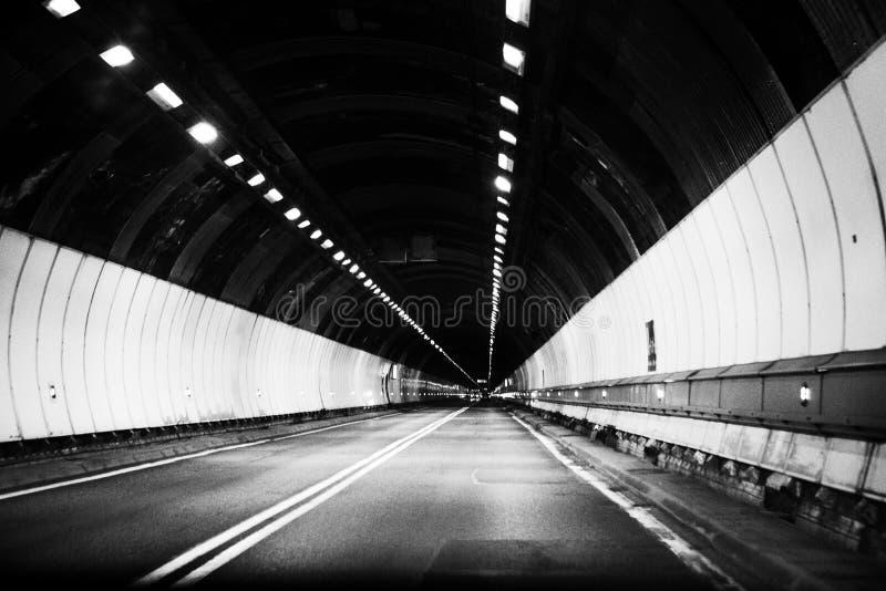 Tunnel intérieur de Mont Blanc images libres de droits
