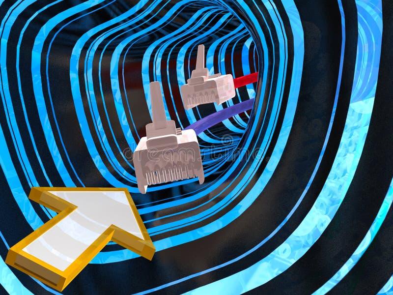 Download Tunnel, kabels en pijl stock afbeelding. Afbeelding bestaande uit werveling - 10781945