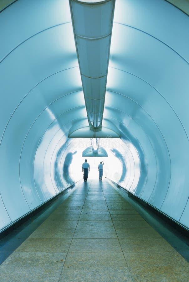 Tunnel léger photographie stock libre de droits
