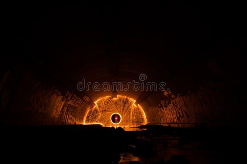 Tunnel léger d'étincelle photos libres de droits
