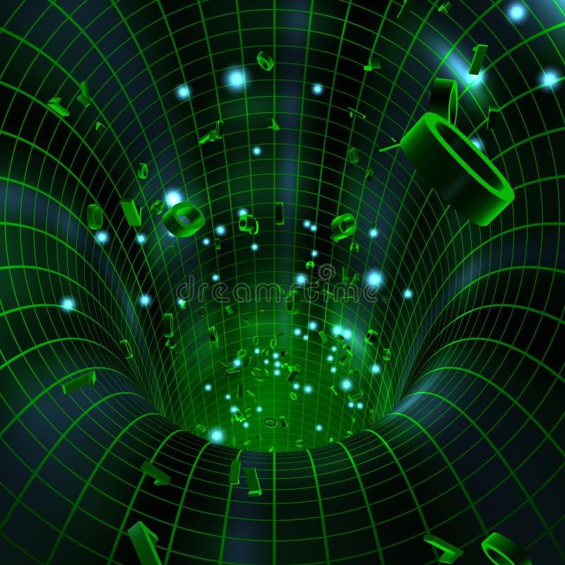 Tunnel met Binaire Cijfers vector illustratie