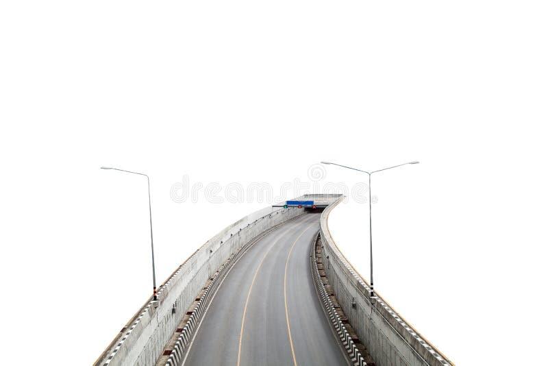 tunnel met weg op witte achtergrond stock foto's