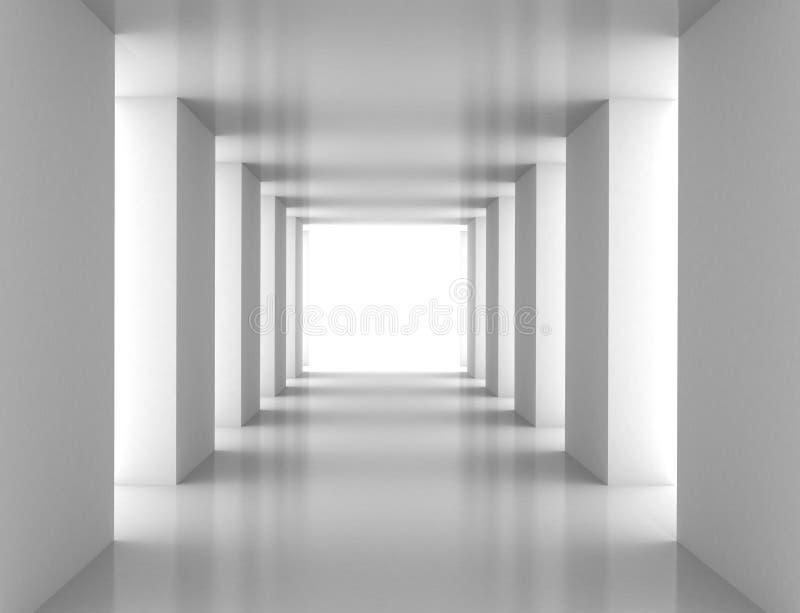 Tunnel met witte muur royalty-vrije illustratie