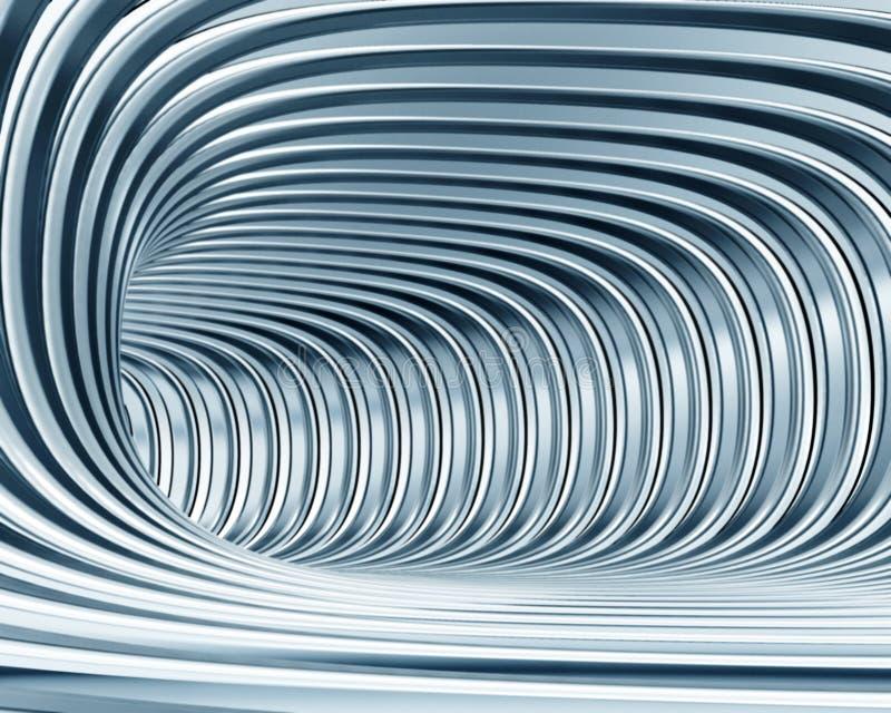 Tunnel metallico astratto illustrazione vettoriale