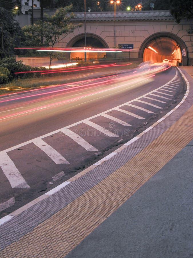 Tunnel Nove de Julho fotografia stock