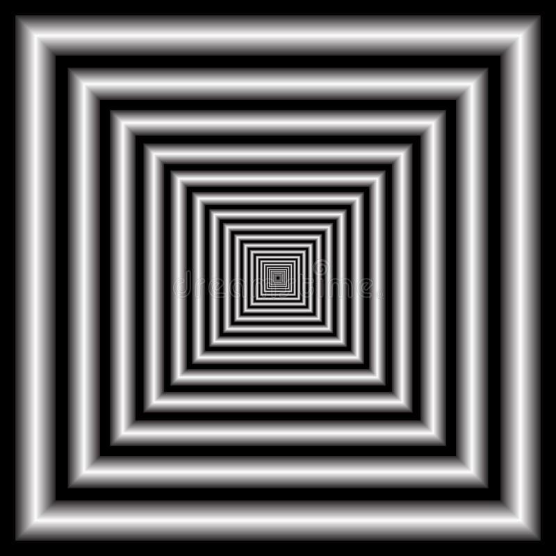 Tunnel. Optische illusie. stock illustratie
