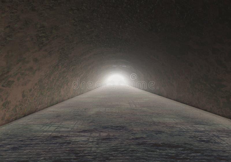 Tunnel orribile A della pietra della roccia della caverna illustrazione di stock