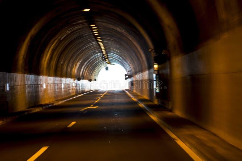 Tunnel in Porto Moniz op de Noordwestenkust waar de Bergen in het noorden van het Eiland Madera stock foto