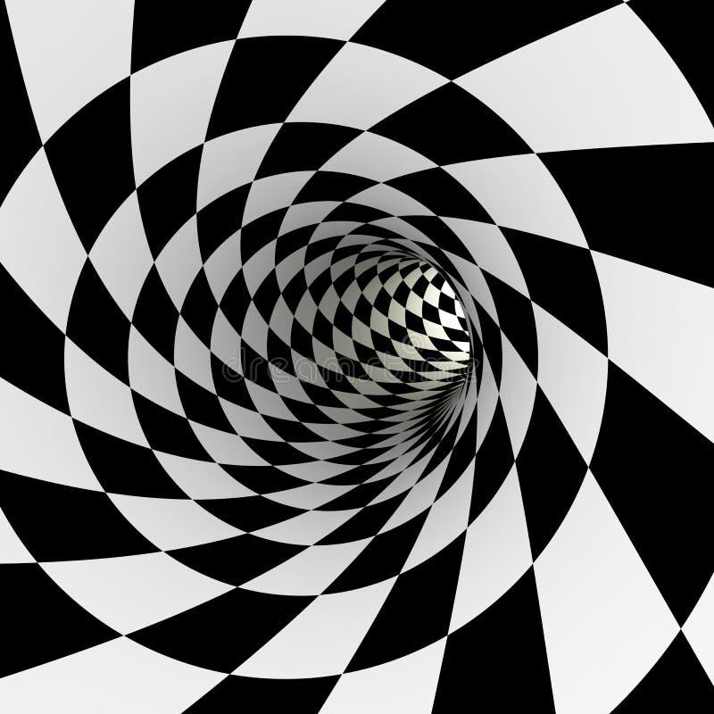 Tunnel a quadretti, 3D royalty illustrazione gratis