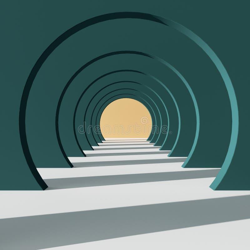 Tunnel rond de bande dessinée illustration libre de droits