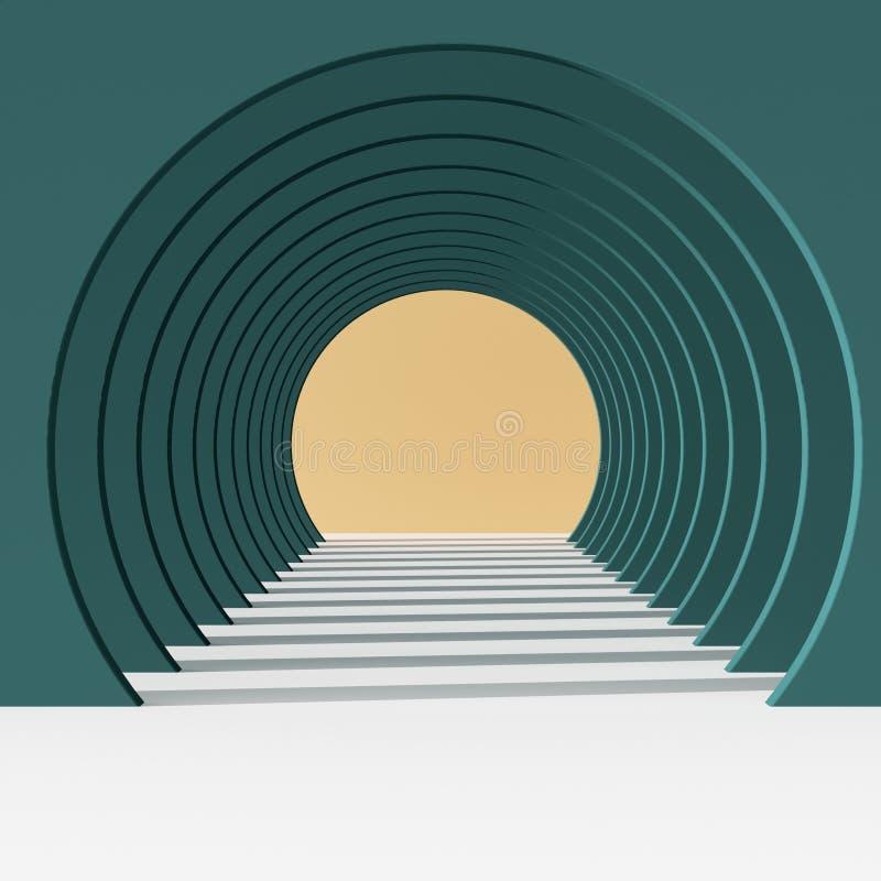 Tunnel rond de bande dessinée illustration stock
