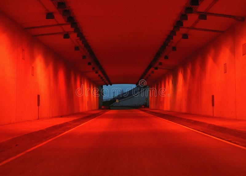 Tunnel 53. A shot of the tunnel on the Highway 93 exit from Highway 53 in Eau Claire, WI stock photo