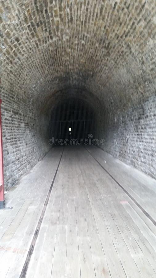 Tunnel sotterraneo del treno del primo canadese immagine stock