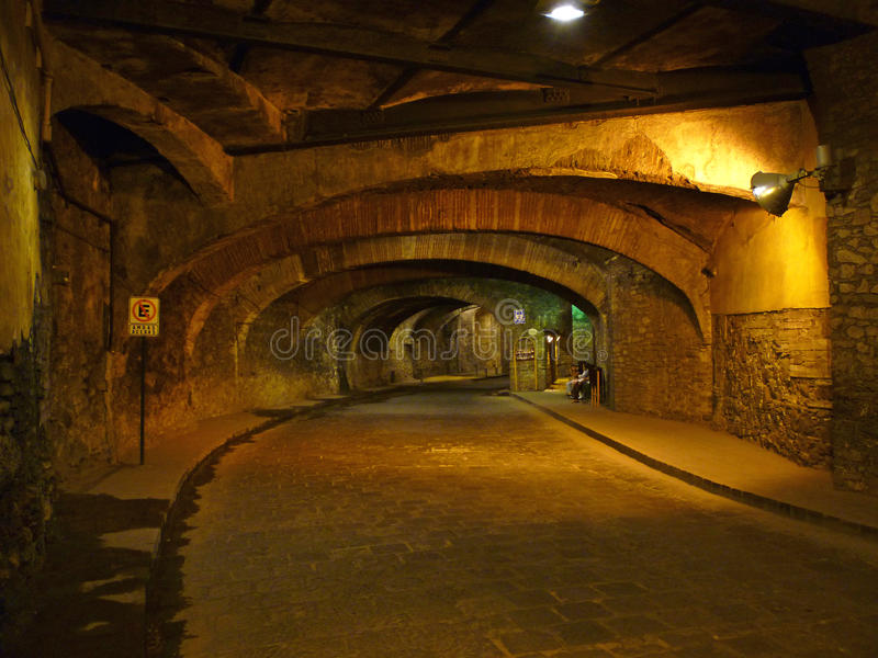 Tunnel sotterraneo in Guanajuato Messico fotografie stock libere da diritti